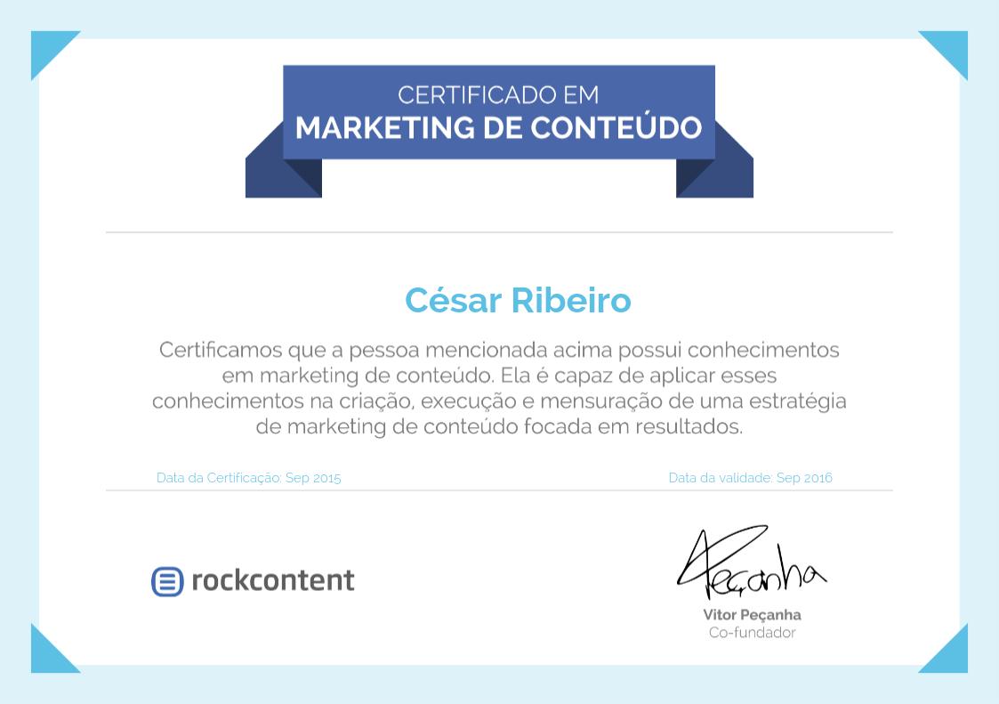 certificação marketing de conteúdo