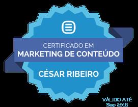 selo certificação marketing de conteúdo