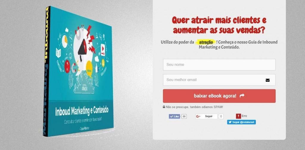 landing page ebook marketing de conteúdo