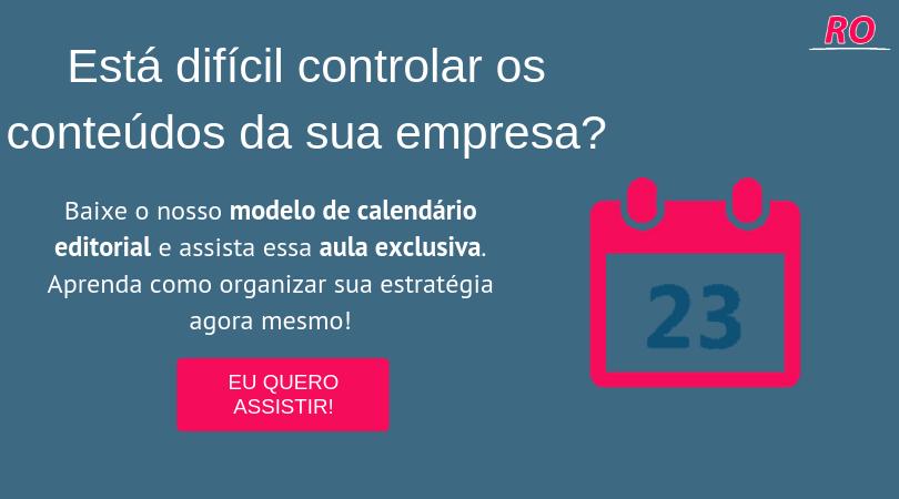 banner modelo calendário editorial